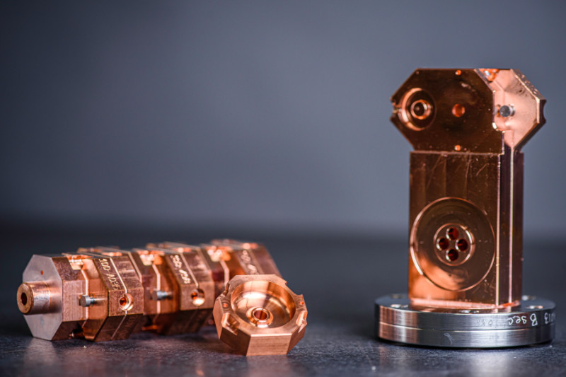 In-house material processing of copper and vacuum components, Altair USA