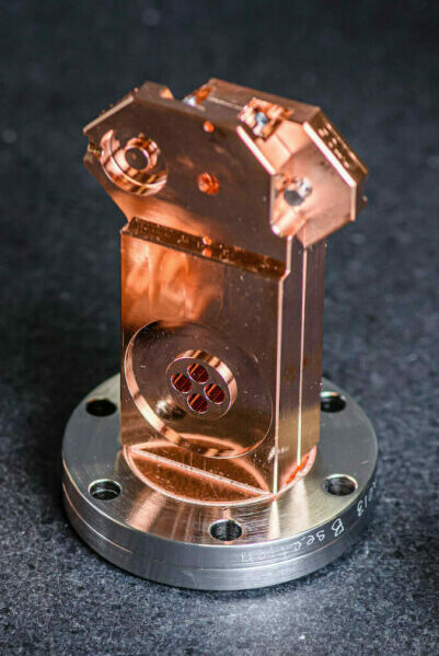 Copper and Stainless steel parts for an x-band LINAC manufactured at Altair USA