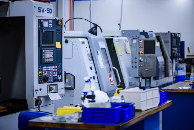 Inside the in-house CNC machine shop at Altair Technologies Inc. USA