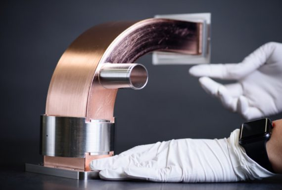Custom Waveguide Asembly, 90 degree, copper,